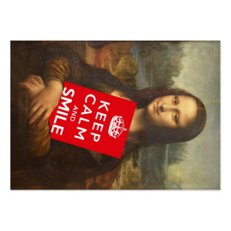 Trust Mona Lisa's Motto Large Business Card