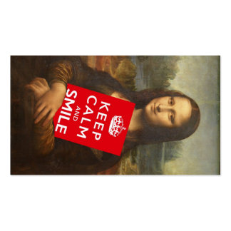 Trust Mona Lisa's Motto Pack Of Standard Business Cards