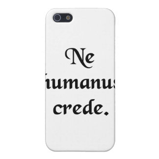 Trust no human. iPhone 5/5S cover