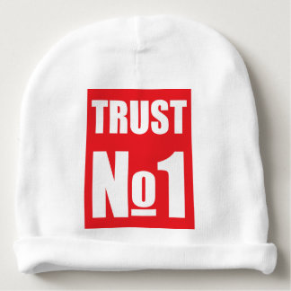 Trust no one baby beanie