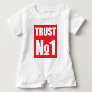 Trust no one baby romper