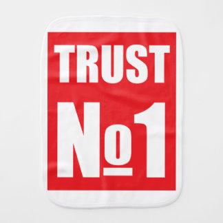 Trust no one burp cloth