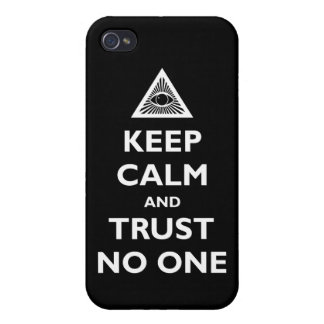 Trust No One iPhone 4 Covers
