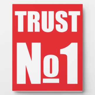 Trust no one plaque