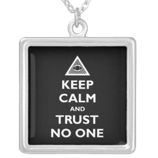 Trust No One Silver Plated Necklace