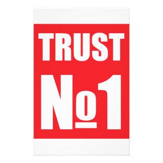 Trust no one stationery