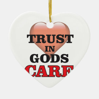 trust on gods care heart ceramic ornament