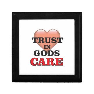 trust on gods care heart gift box