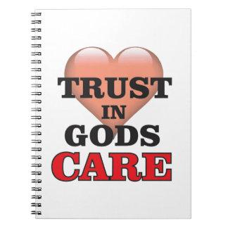 trust on gods care heart notebooks
