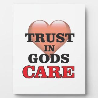 trust on gods care heart plaque