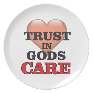 trust on gods care heart plate