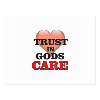 trust on gods care heart postcard