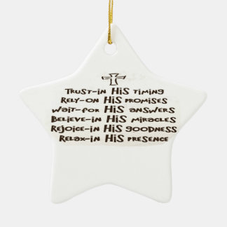 Trust prayer Ornament