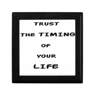 trust the timing of your life gift box
