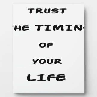 trust the timing of your life plaque