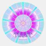 Trust (Virtue sticker) Round Sticker