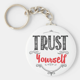 trust yourself keychain