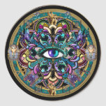 Trust Yourself ~ The Eyes of the World Mandala Round Sticker