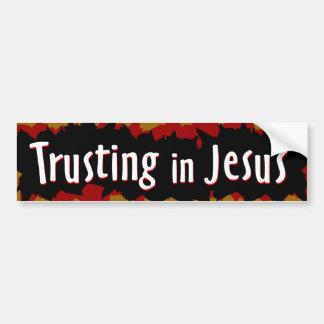 trusting in Jesus Bumper Sticker