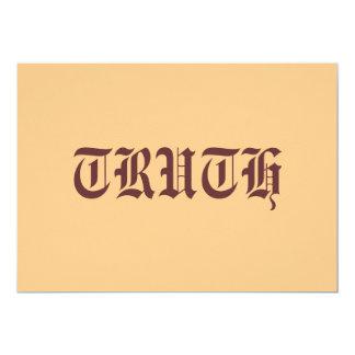 "Truth 5"" X 7"" Invitation Card"