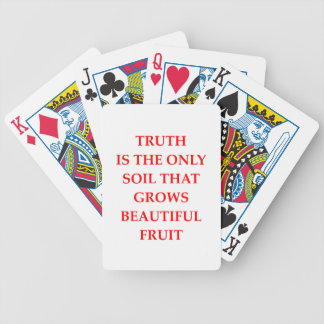 TRUTH BICYCLE PLAYING CARDS