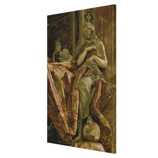 Truth from monument to Alexander VII in north Gallery Wrap Canvas