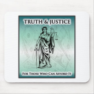 Truth & Justice - Lady Justice Mouse Pad