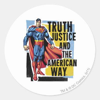 Truth, Justice Round Sticker