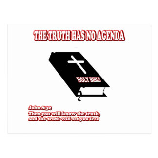 Truth, No Agenda Postcard