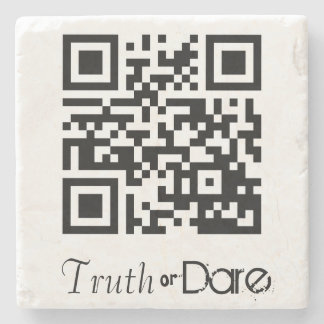 Truth or Dare QR Code Gaming Stone Coaster