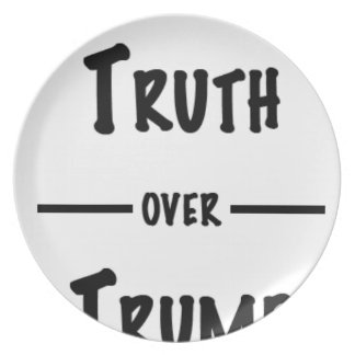 Truth over Trump gifts Plate