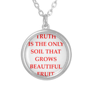 TRUTH SILVER PLATED NECKLACE