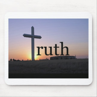 Truth sunset cross mouse pad