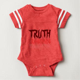 TRUTH TRANSCENDS BABY SPORT RED BABY BODYSUIT