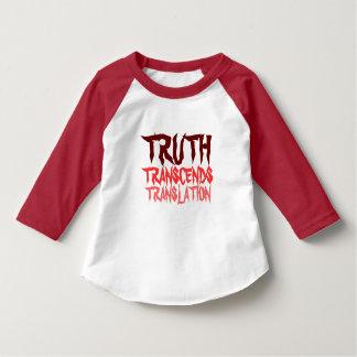 TRUTH TRANSCENDS RED TODDLER RAGLAN T-Shirt