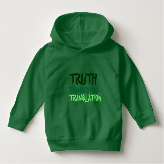 Truth Transcends Toddler Green Hoodie