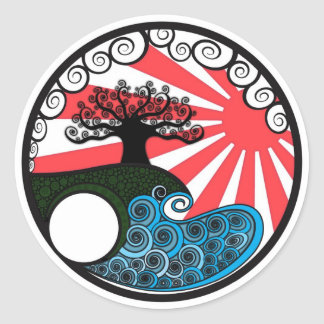 Truth Tree, Red Classic Round Sticker