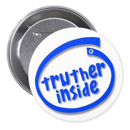 Truther Inside Pinback Buttons