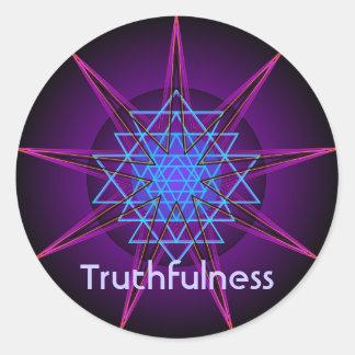 Truthfulness (Virtue sticker) Round Sticker