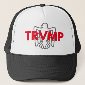 TRVMP trucker hat - red with gray eagle