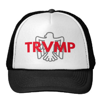 TRVMP trucker hat - red with grey eagle