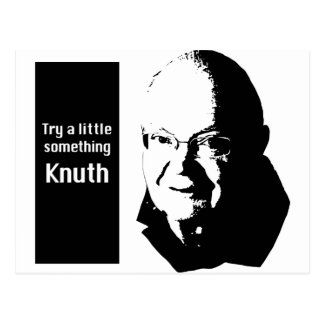 Try a little something Knuth Postcard