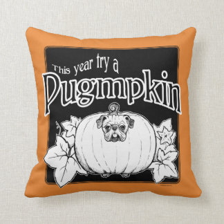 Try a Pugmpkin! Throw Pillow