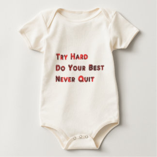 Try hard baby bodysuit