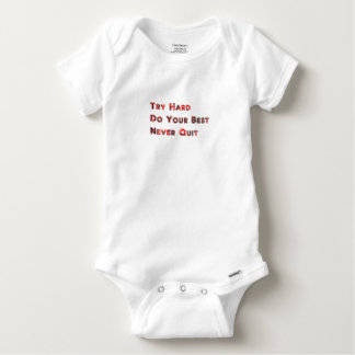 Try hard baby onesie