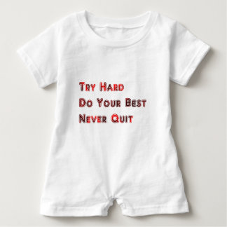 Try hard baby romper