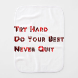 Try hard burp cloth