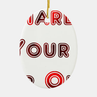 Try hard ceramic ornament