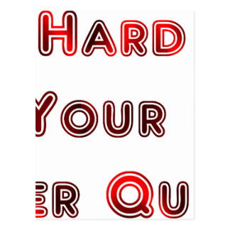 Try hard postcard