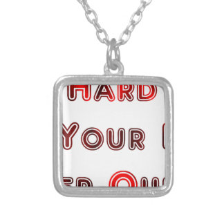 Try hard silver plated necklace